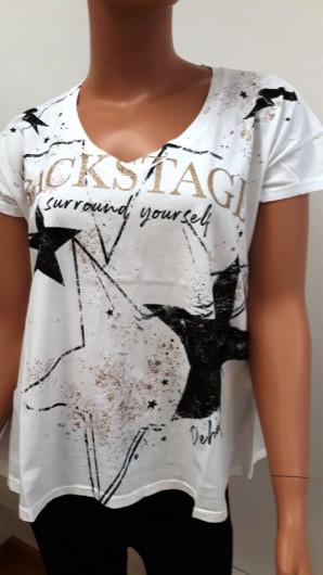 Deha shirt weiß mit aufdruck+