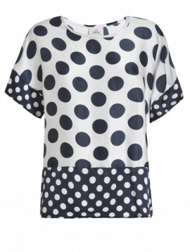 Satin Shirt polkadot--D23511-01