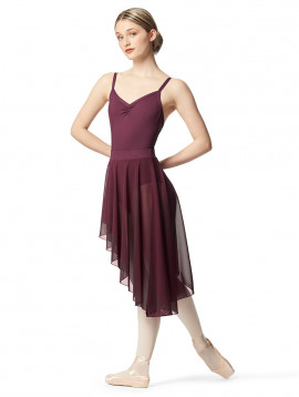 Pull on Asymmetric Dance Skirt Dakini